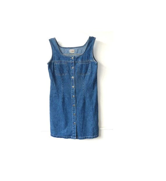 festival style: 90's denim dress at TheRareStitchUK .  etsy vintage . music festival outfit . glastonbury 2014 .