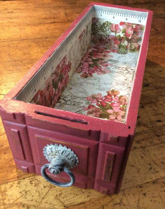 Antique Sewing Machine Drawer with Chalk Paint by BatterUPcycle