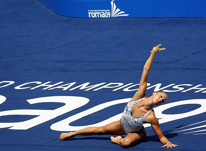 """Gemma Mengual, otra grande de la sincronizada. Precioso solo en el Mundial de Roma 2009 con la versión de Ray Charles del """"Yesterday"""" de los Beatles. Se llevó la plata, pero se merecía el oro."""