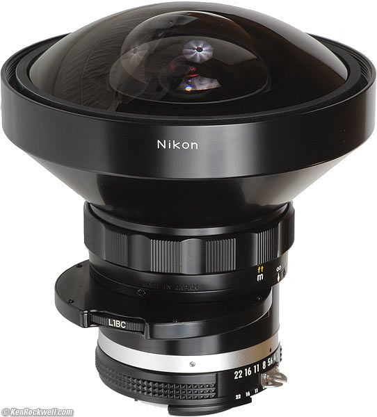 Nikon 8mm f/2.8 Fisheye lens... I had one of these in 1974 and got very strange looks whenever it was on my camera in the center of Manchester (or maybe it was my Beatles haircut!)