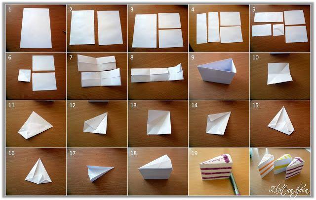 Papieren taart /  origami torta