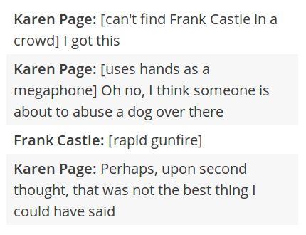 karen page frank castle/ punisher daredevil/ matt murdock text post