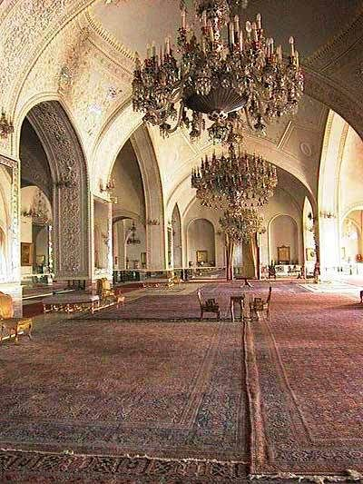 Salam Hall of the Golestan Palace Complex in Iran
