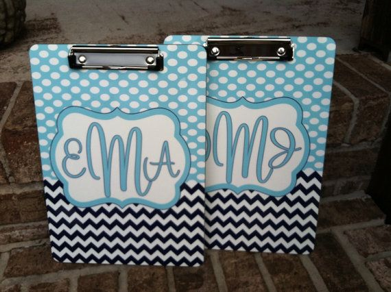 Personalized Clip Board - Personalized Desk Accessories - Monogram Clip Board - Office Supplies - Classroom -  Design Your Own - Made in USA...