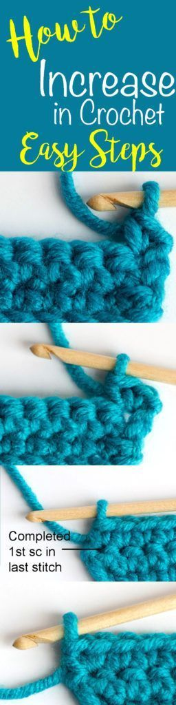 Love this how to increase in crochet tutorial!  Wow!