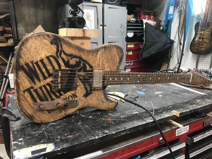 This person makes guitars out of whiskey barrels and