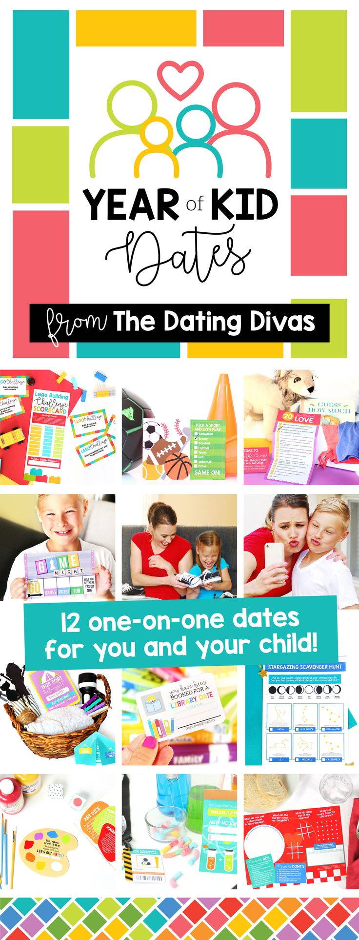 We know many of you have kiddos and we wanted to come up with an easy way to help you plan fun and original activities to do with your them, to create cherished memories and meaningful conversation!e created 12 mini dates, specifically for kids and parents to do together! Plus when they realize what awesome one-on-one time you have in store with them, they'll feel SPOILED and LOVED. Check out this awesome kit here! #YearofKidsDates #Family