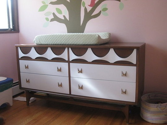 cute changing table.