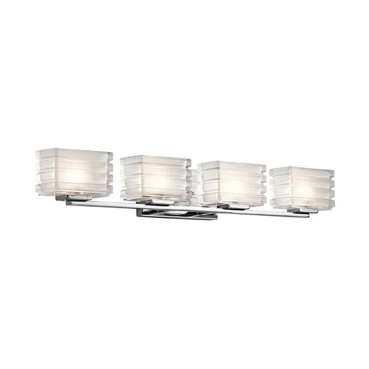 kichler lighting sales at keidel four light vanity bathroom lights in a decorative chrome finish