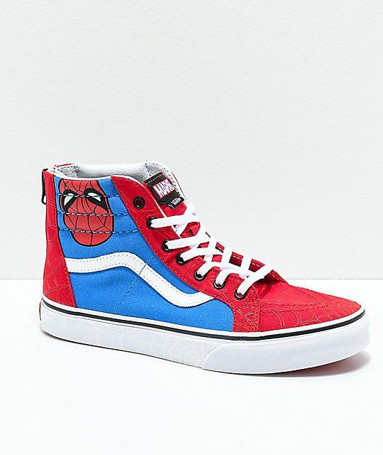 Vans x Marvel Sk8 Hi Spider Man Skate Shoes | sneakers in
