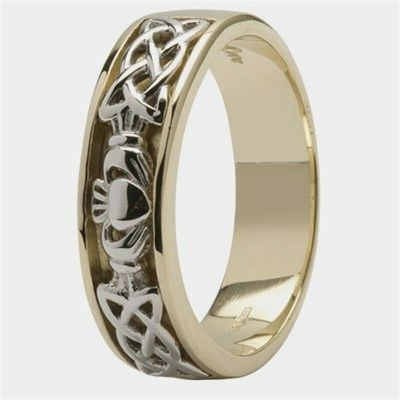 Mens Claddagh Wedding Ring SM-14IC12
