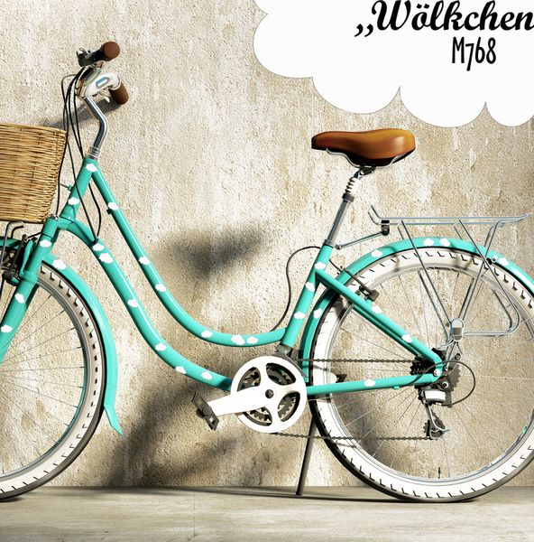 """Fahrradaufkleber Fahrradtattoo  _Wölkchen_   Süße Wölkchen Aufkleber die zeigen ob du auf Wolken schwebst oder gerade auf """"Wolke 7"""" bist oder wa..."""