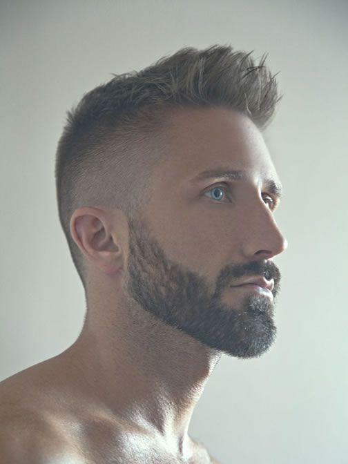 cabelo curto com barba