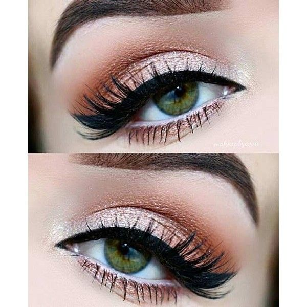 31 Pretty Eye Makeup Looks for Green Eyes ❤ liked on Polyvore featuring beauty products, makeup, eyes, beauty, eye makeup and eyeshadow
