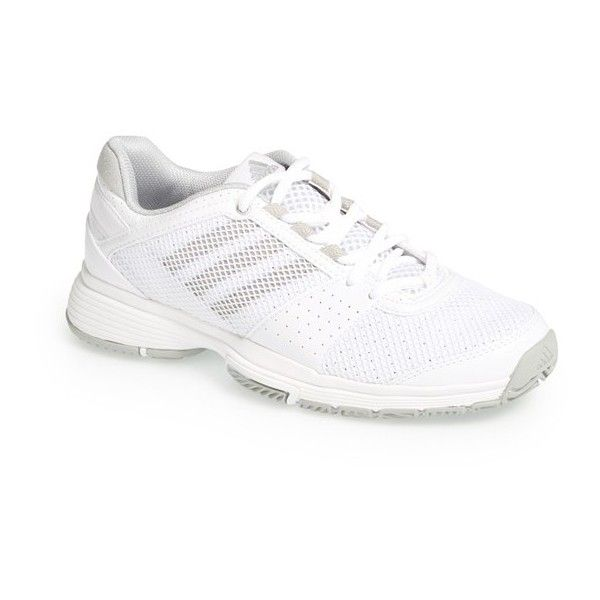 Women's adidas 'adiPower Barricade Team 3' Tennis Shoe (120 NZD) ❤ liked on Polyvore featuring shoes, grip shoes, tennis shoes, adidas footwear, adidas shoes and sneakers tennis shoes