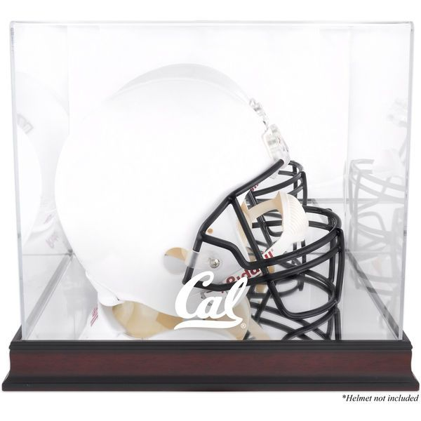 California Bears Fanatics Authentic Mahogany Base Team Logo Helmet Display Case with Mirrored Back - $109.99