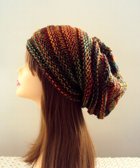 Valentine's Day Gift Super Slouchy Beanie Baggy Hat Knit Chunky Hat Autumn Colors Men Women  Winter Clothing Accessory Gift  Ideas Under 50 on Etsy, $39.99