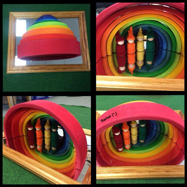 "Rainbow and mirror play from Rachel ("",)"