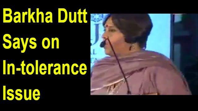 Barkha Dutt On Intolerance Issue 5/3/2016 !! Viral Videos