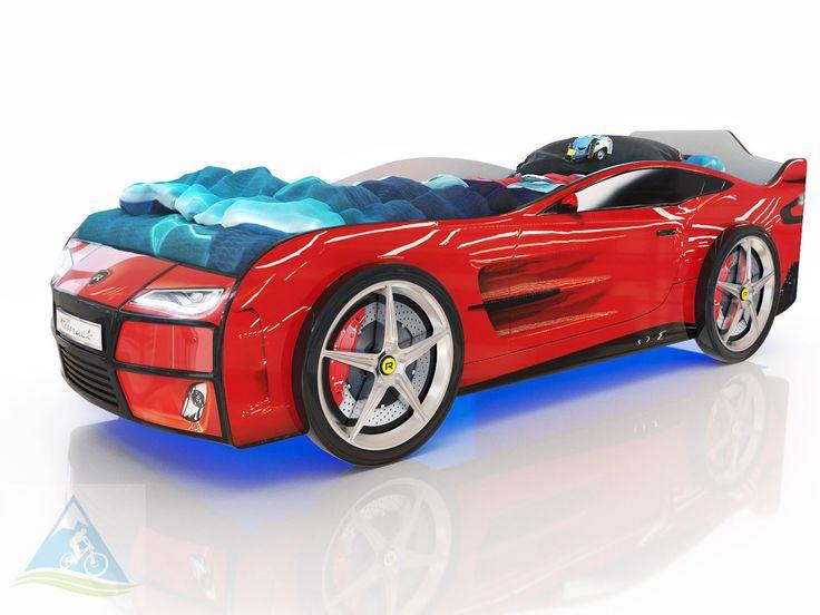 Кровать-машина Romack Kiddy красный