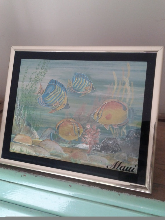 Under the Sea foil art Optical illusion by VioletnDaisyVintage, $20.00