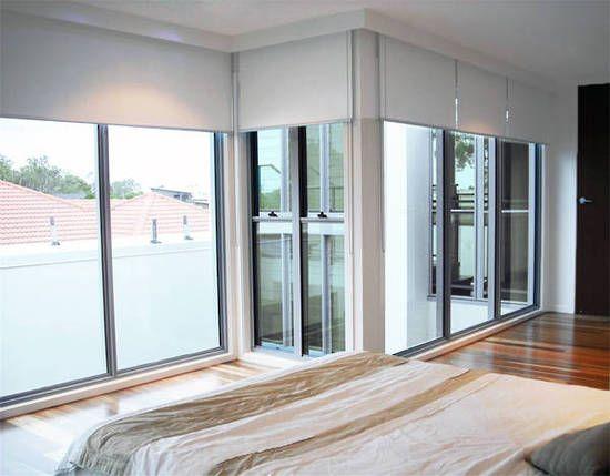 Roller Blinds Linked Pelmets Modern Bedroom
