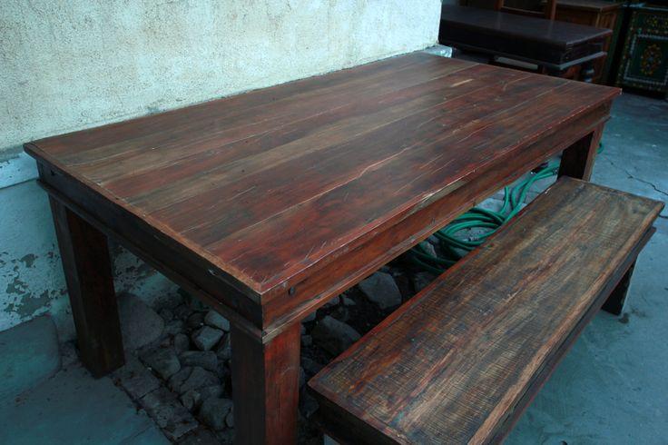 Rustic Teak Dining Table