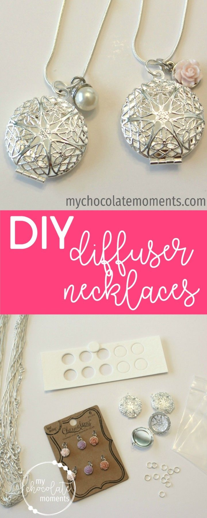 DIY essential oil diffuser necklaces | supplies, instructions, and how to