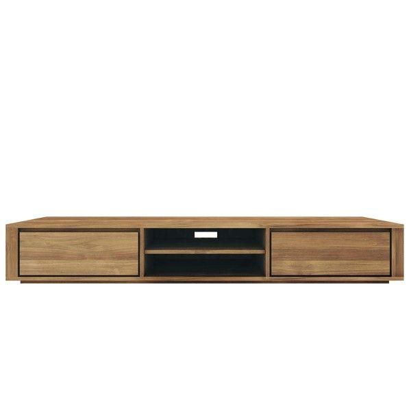 Meuble Tv bas en teck avec niche et tiroir L120cm Indigo Meuble Tv bas en