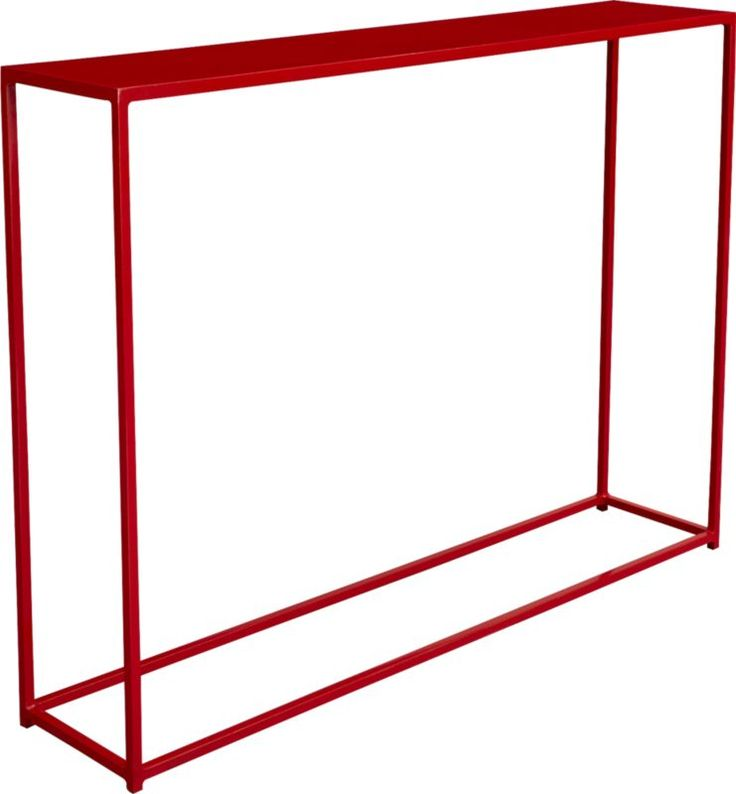 Love this narrow console table!  mini red console table  | CB2