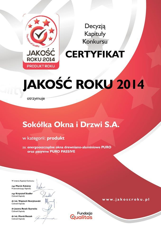 Nasze energooszczędne okna drewniano-aluminiowe PURO oraz okna pasywne PURO PASSIVE otrzymały Certyfikat Jakość Roku 2014! :) http://sokolka.com.pl/aktualnosci/606,certyfikat-jakosc-roku-2014-dla-okien-puro.html  #Sokółka #OknaDrewniane