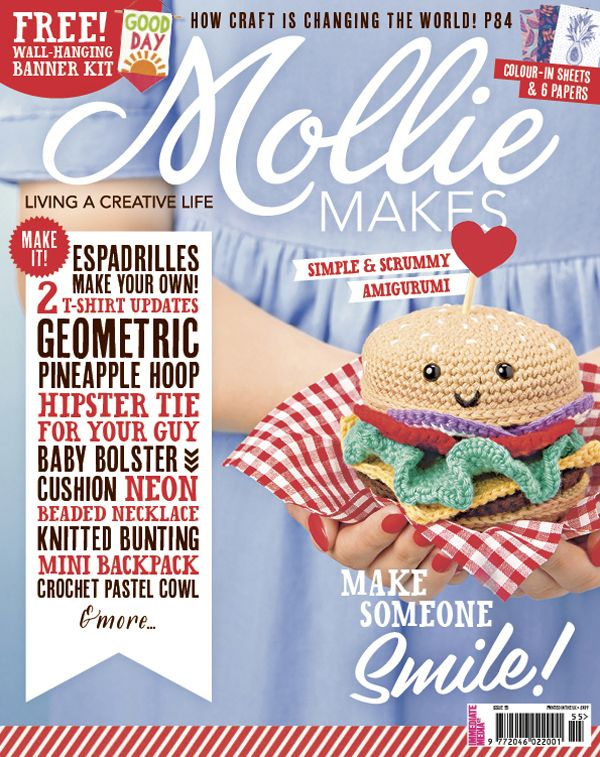 Your project templates for Mollie Makes issue 55 are ready to download
