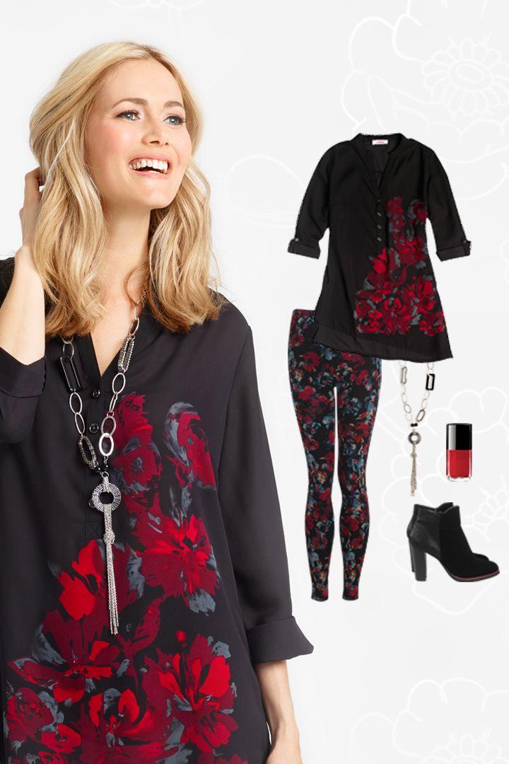 Cet automne, portez le bourgogne fleuri #ModeLeGrenier #CollectionAutomneHiver #Oenologie #Bourgogne