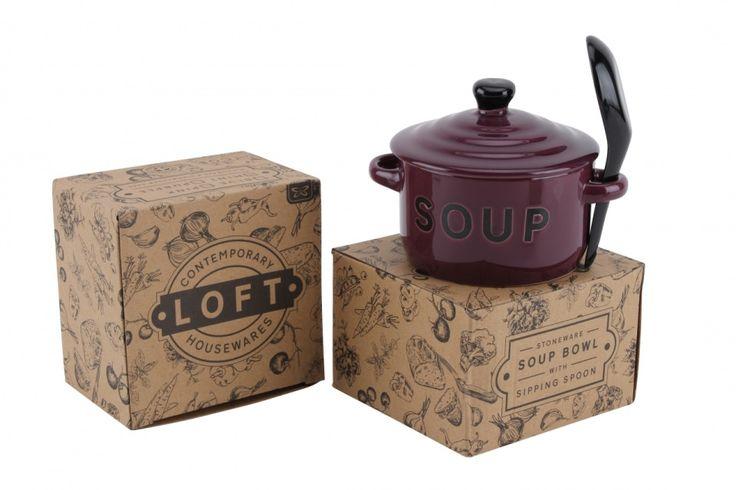 Purple Soup Bowl and Spoon - Wonder Stuff