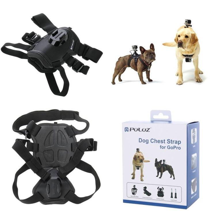 Accesorio GoPro Hero, arnés para perros soporte correa ajustable para el pecho de la mascota. Graba con tu camara deportiva desde la perspectiva de tu perro. ¡El mundo como lo ve tu perro!