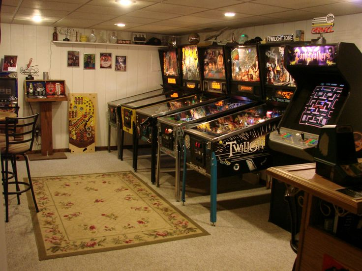 96 best game room images on pinterest basement ideas my - Game room in house ...