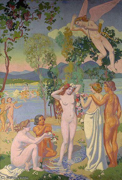 'Eros ist Psyches Beauty Struck', 1908 von Denis Maurice (1870-1943, France)