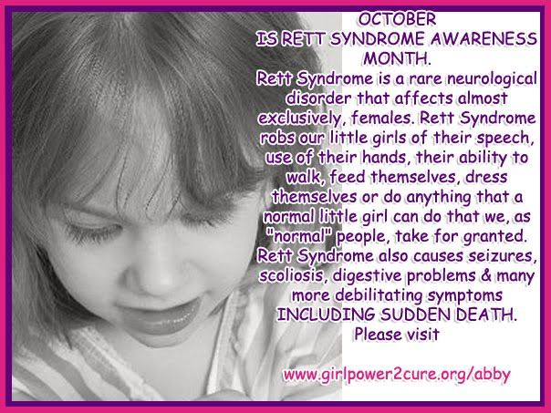 Rett Syndrome | Abbysworld: October is Rett Syndrome Awareness Month!