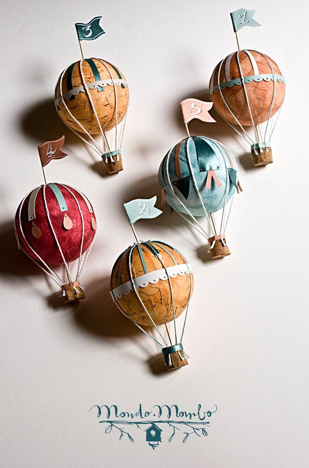 Hot air balloon - table numbers by mondo • mombo
