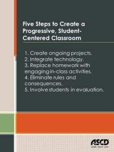 Five steps to create a progressive, student-centered classroom from Mark Barnes' book, Role Reversal