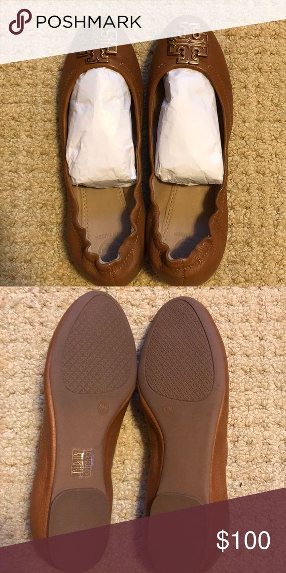 Tory Burch sandals dark beige color 8 1/2. NWOB