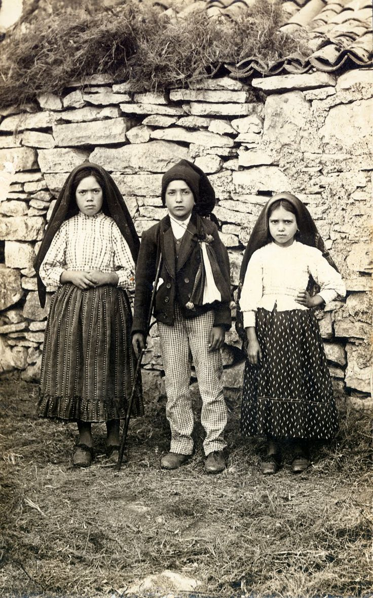 The 3 little shepherds of Fatima, Lucia, Francisco and Jacinta