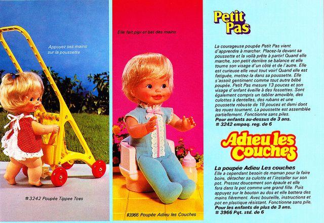 Bébé Petit Pas, Bébé Nageur, Baby Skates et Bébé Trotteur (MATTEL) années 80