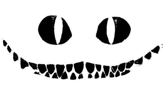 Pumpkin carving Tim Burton's Cheshire cat template.