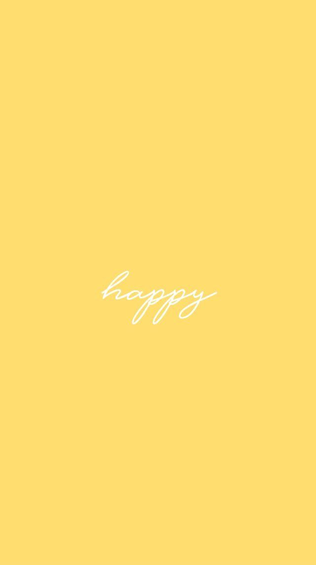 Pin By Mildy G On Yellow In 2019 Aesthetic Iphone Wallpaper Cute