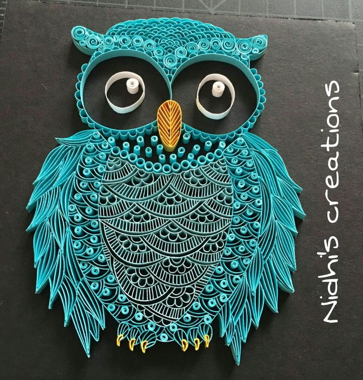 Being Creative in the world of Paper Crafting!!!: Quilled Owl