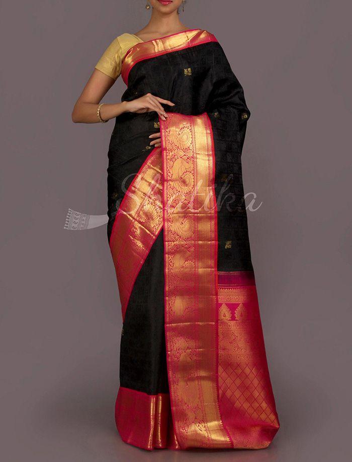 Lata Bold Beauty Real Zari #DharmavaramSilkSaree