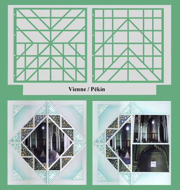 Scrapbooking Layout | Gabarits Azza Vienne / Pékin