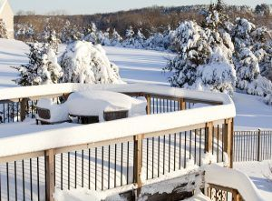 We're expecting more snow this weekend! Is your deck ready?