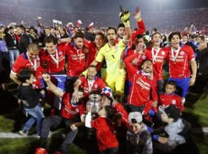 Chile won Argentina in penalties 4-1 their first international cup win in copa america